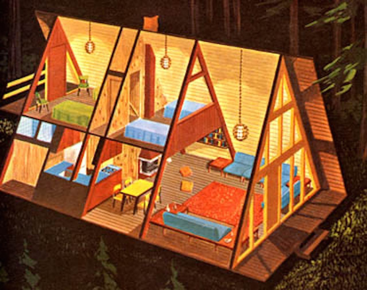Проекты треугольных домов фото